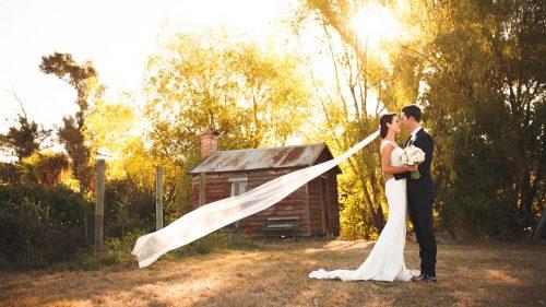 Auntsfield Estate Bride and Groom